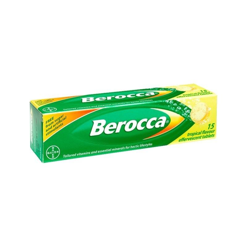 Berocca Performance Effervescent Tablets Orange Flavor 15 Vitamin B C Calcium Magnesium Zinc