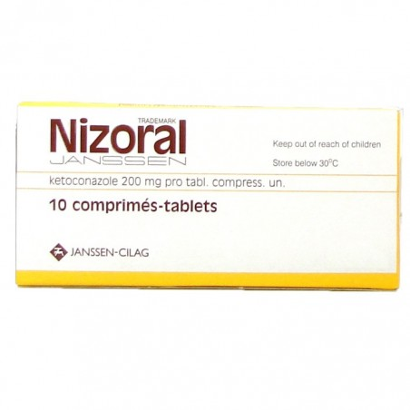Nizoral Tablets 200mg Ketoconazole 10 Tablets a box